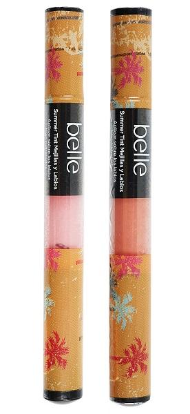 El tinte para mejillas y labios en rosa y coral