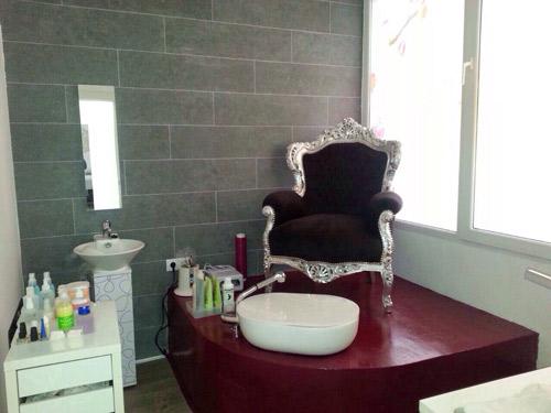Sala de manicura y pedicura.