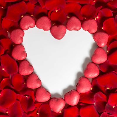 Corazón-macarons