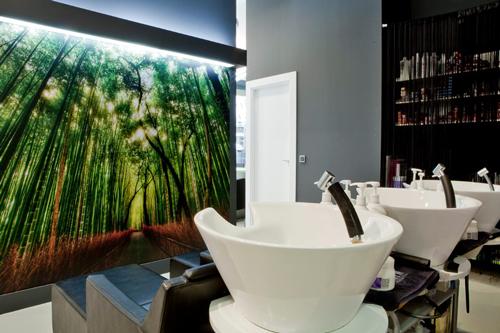 Mientras te lavan la cabeza puedes disfrutar de este paisaje tan relajante y espectacular.