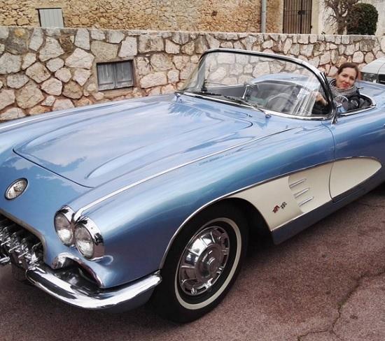"""Este Corvette fue mi favorito. No sólo por su estética tan cuidada, sino también porque es el mismo que conduce Miguel Ángel Silvestre en la serie """"Velvet""""."""