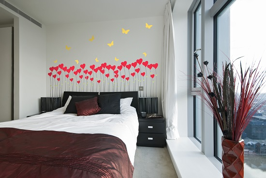 Un romántico ramillete para el cabecero de tu cama.