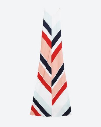 Vestido largo de rayas, de Zara (39,95 €)