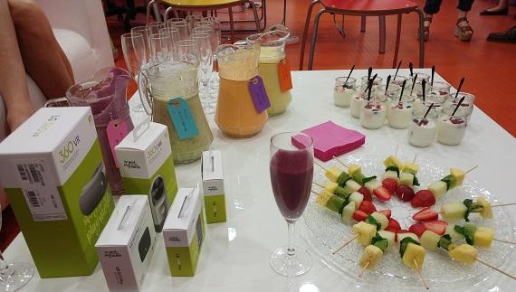 Nada como un desayuno saludable para coger fuerzas y probar todas las funcioinalidades de LG G5 & Friends y visitar el Showroom de la diseñadora.