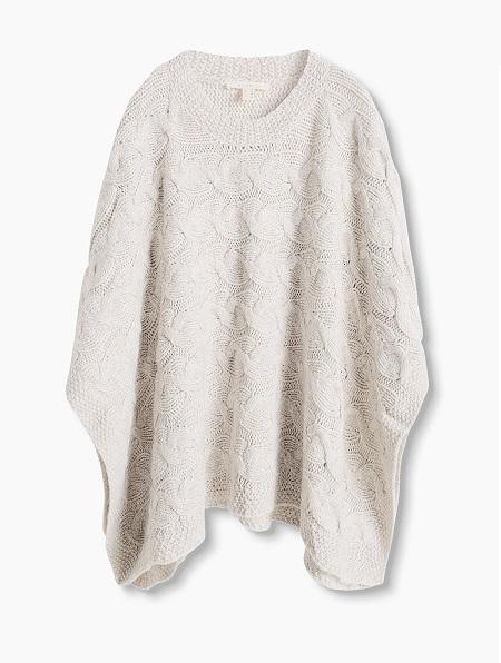 Capa de punto grueso en mezcla de lana 79,99€