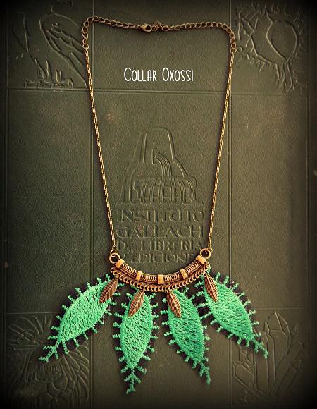 Collar Oxassi verde (28,00 €).