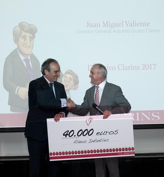 Donativo Clarins 2017 Aldeas Infantiles SOS