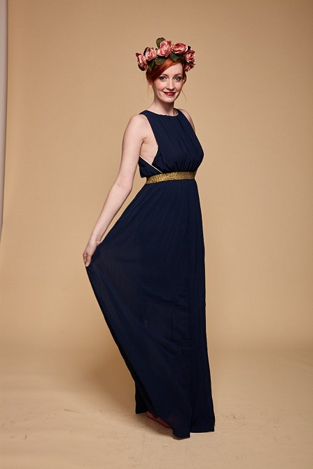 Vestido Mérida azul marino (79,90 €)