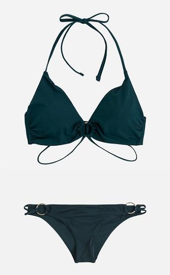 Bikini verde con anillas, de Oysho.