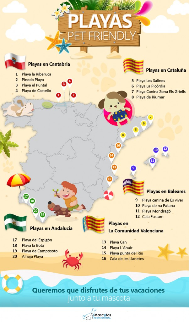 infografia playas pet friendly