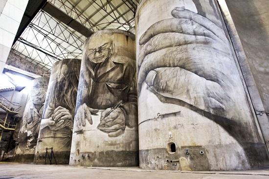 Murales de la bodega