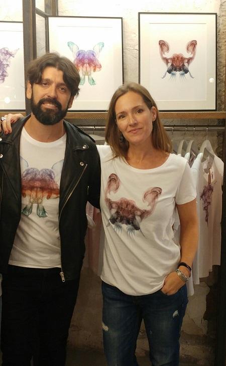 Con José Luis Tejedor y una camiseta de