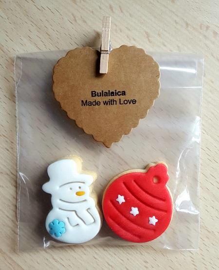 Paquete de dos galletitas (3 € paquete individual. 2 € si se encargan más de 10 unidades).