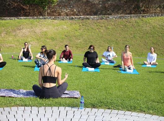 Clase yoga Cristina Madrid