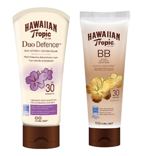 Duo Defense y BB Cream Hawaiian Tropic