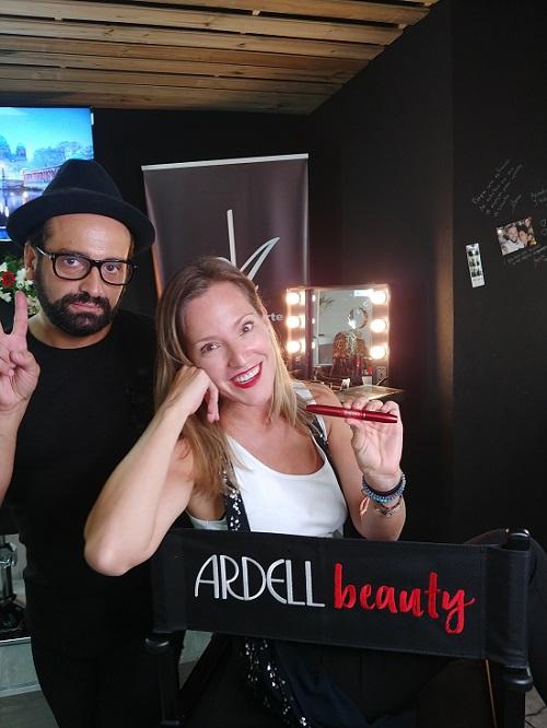Con Giann Franco, maquillador oficial de Ardell Beauty.